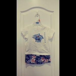 Old Navy Little Surfer Tee Shirt & Shorts